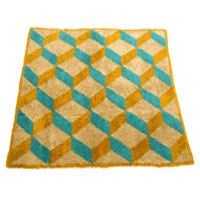 Wool Carpet - Escher yellowblue