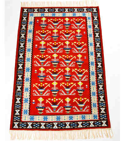 Kilim Wool Rug XII - Plants in Pots