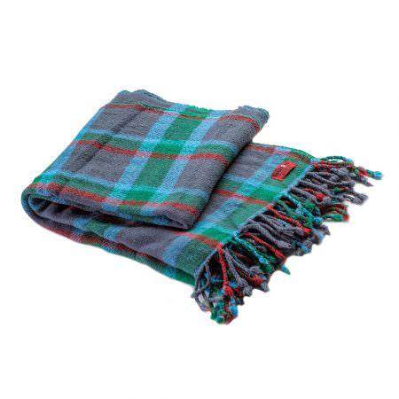 Woollen blanket Perelika merino- blue checker