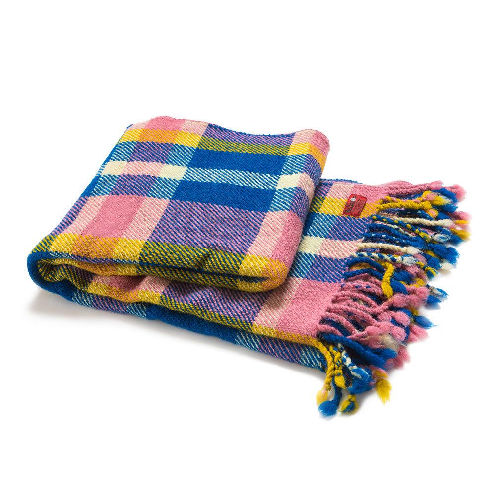 Pestrobarevná vlněná deka Perelika XIV