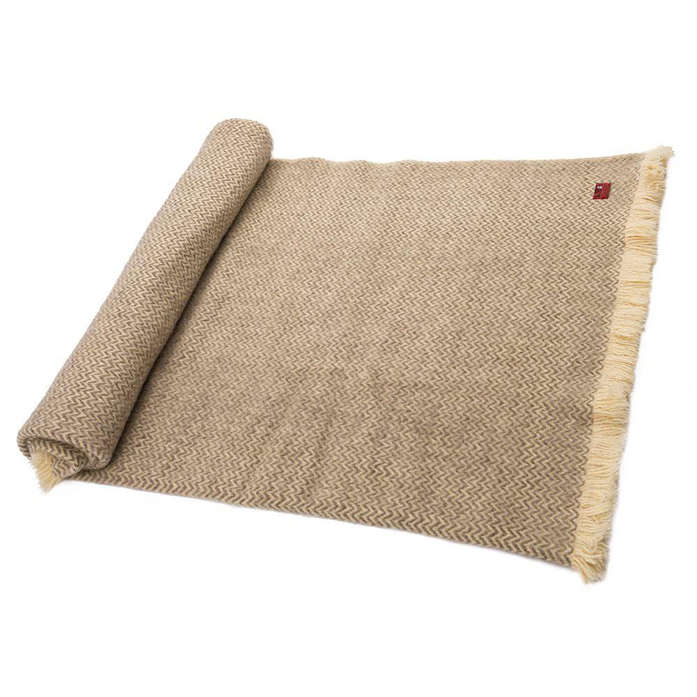Vlněná deka Karandila XV šedá nebarvená