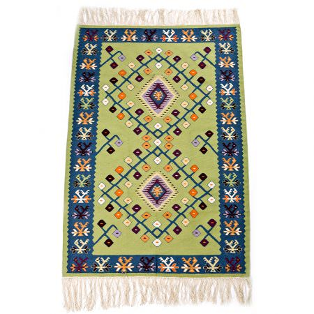 Kilim Wool Rug XV - Leaves on branches