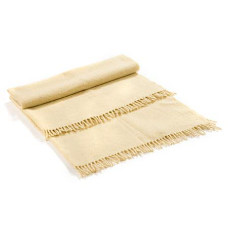Vlněná deka Perelika merino - bílá