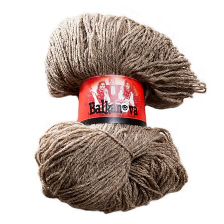 Wool Yarn - Grey, 250 g