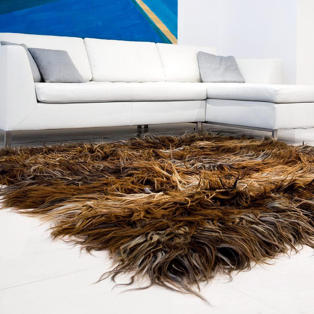 Ručně vázaný koberec Chalište z tmavé vlny II
