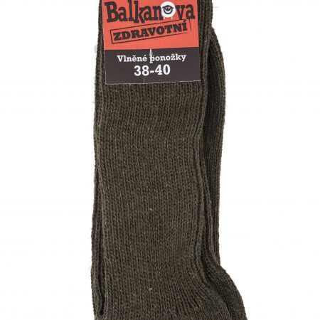 Socks 100% wool, unicolour elastic knitwear, health