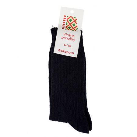 Ponožky 100% vlna, jednofarebný pružný úplet