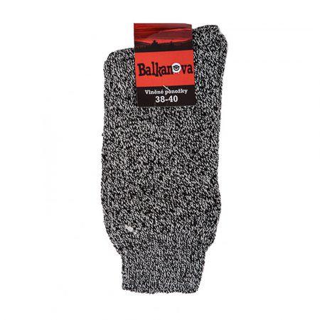 Socken aus 100% Wolle, dünn glatt gestrickt (meliertes)