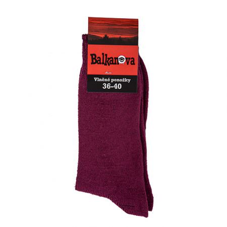 Socks 90% wool, unicolour flat knitwear