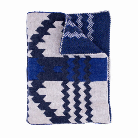 Wool hat and scarf - blue I