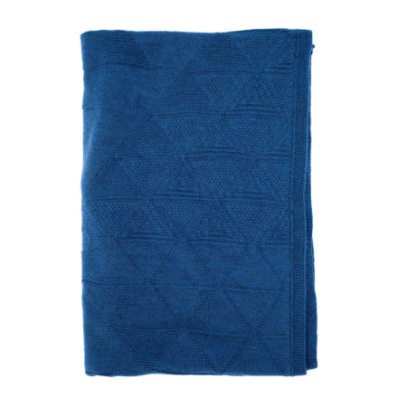 Scarf of merino wool- blue