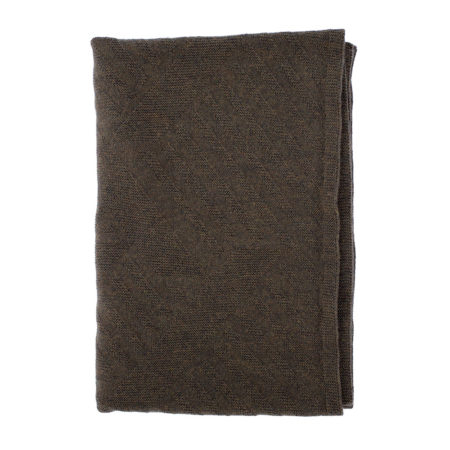 Scarf of merino wool- brown