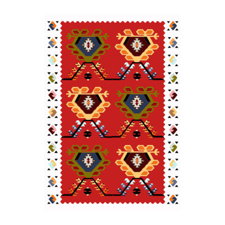 "Pattern - Kilim ""Cabbage heads II"""