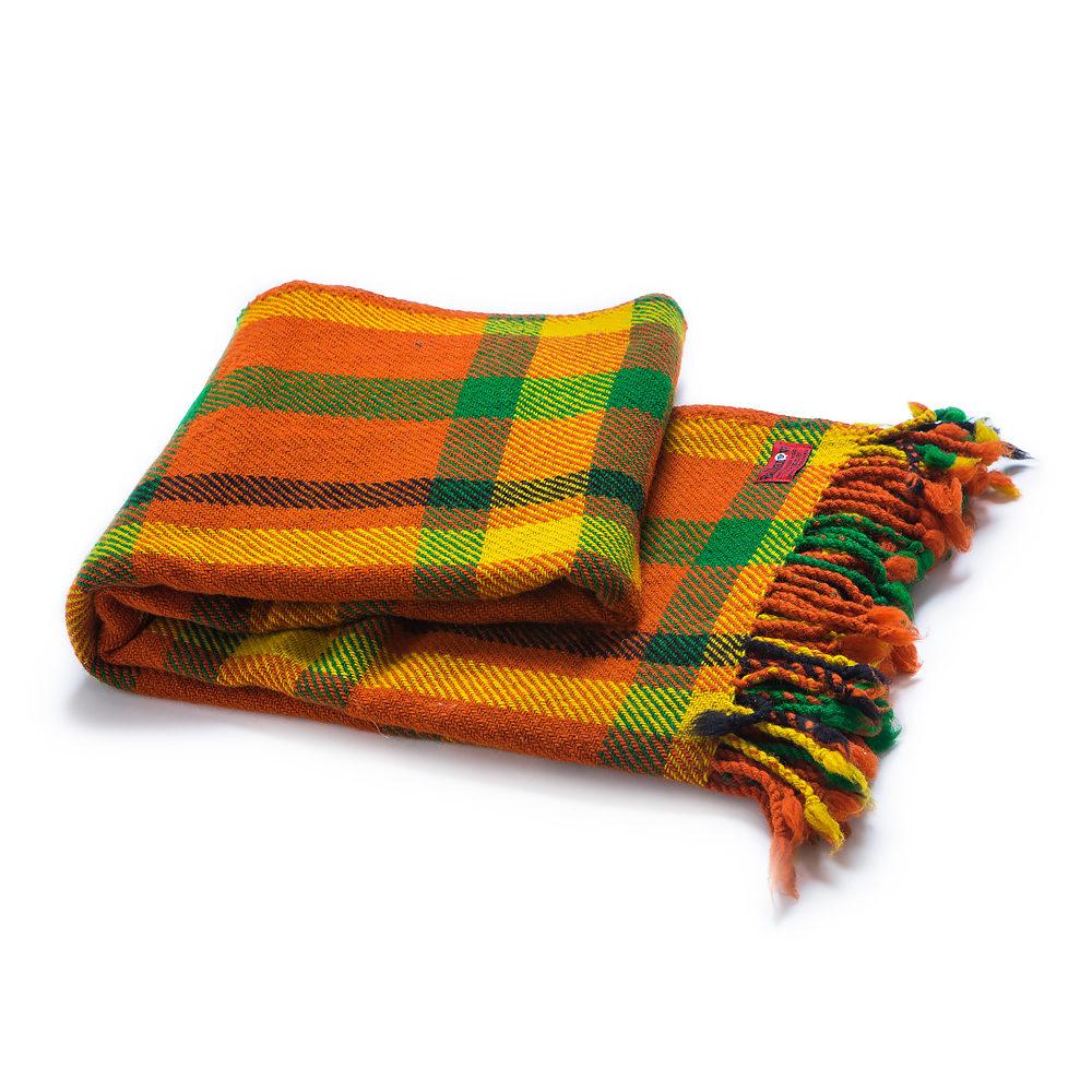Pestrobarevná vlněná deka Perelika XVII