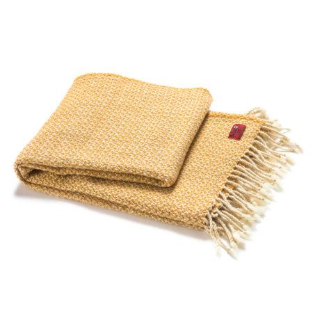 Vlněná deka Kaliakra merino II žlutá