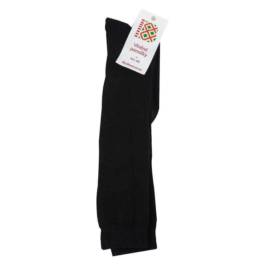 Men's knee socks 100% wool, monochrome smooth knit