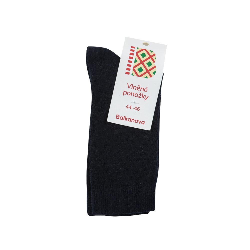 Ponožky 100% vlna, jednobarevný hladký úplet