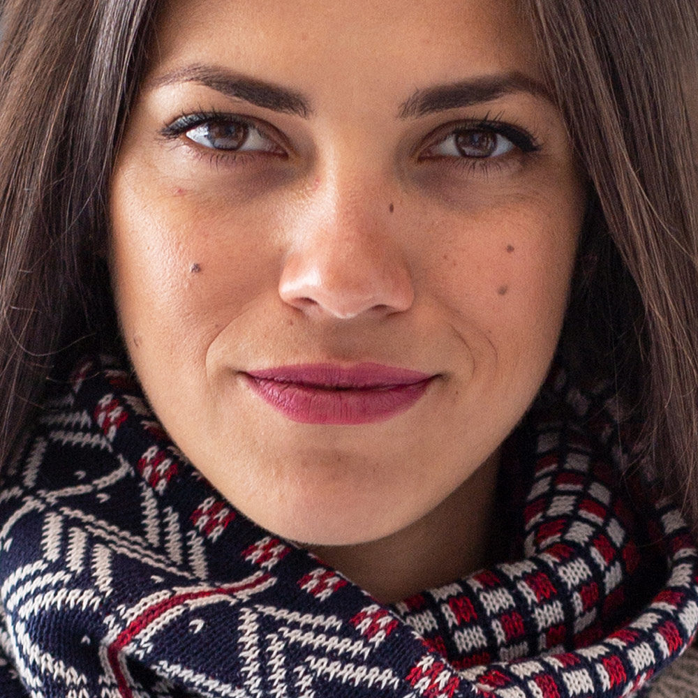 Wooll neckerchief merino - blue