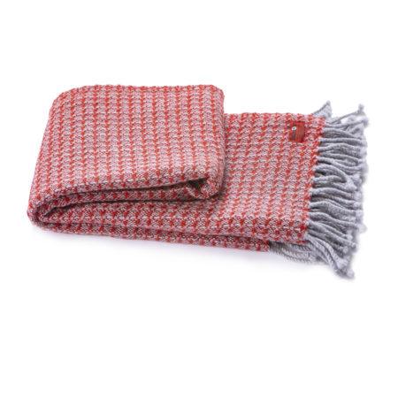 Vlněná deka Kaliakra merino III červená