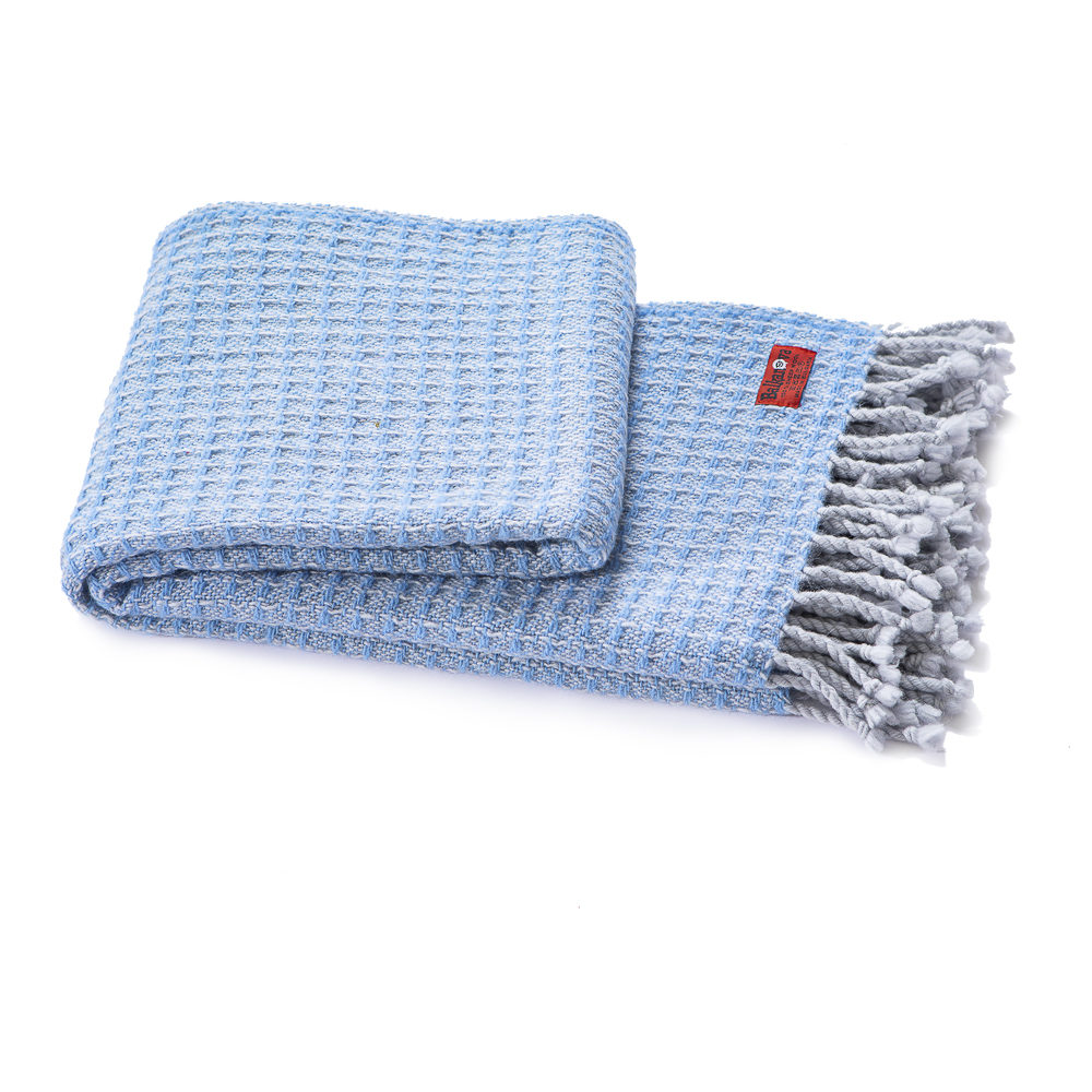 Vlnená deka Kaliakra merino III modrá