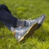 Vlněné ponožky 100% vlna, silný pružný úplet (tmavě šedé)