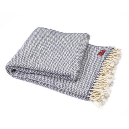 Vlnená deka Perelika merino IV - šedá