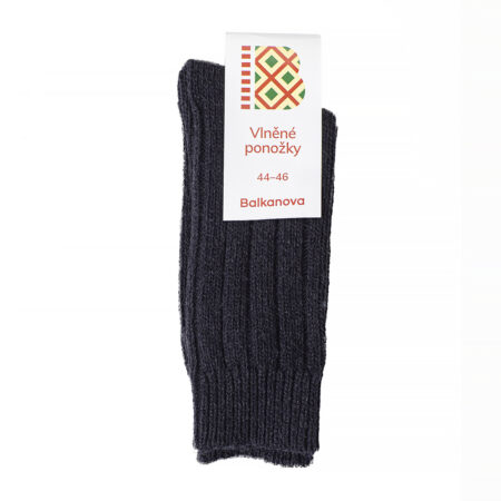 Socks 100% wool, thick elastic knitwear (black)