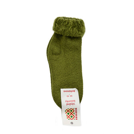 Hairy thick socks - green