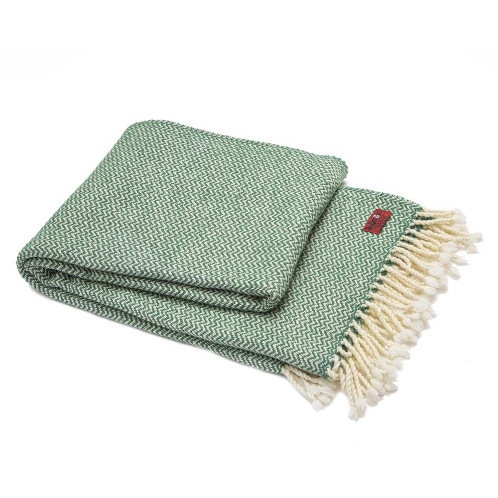 Vlněná deka Marina merino - zelená