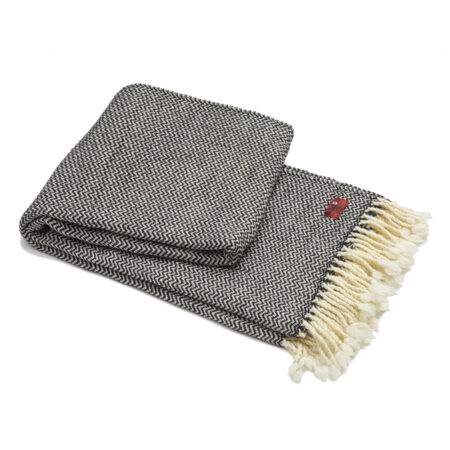 Wool blanket Marina merino - black