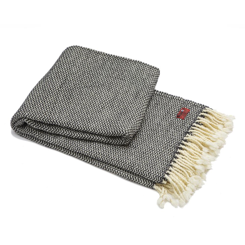 Vlněná deka Marina merino - černá