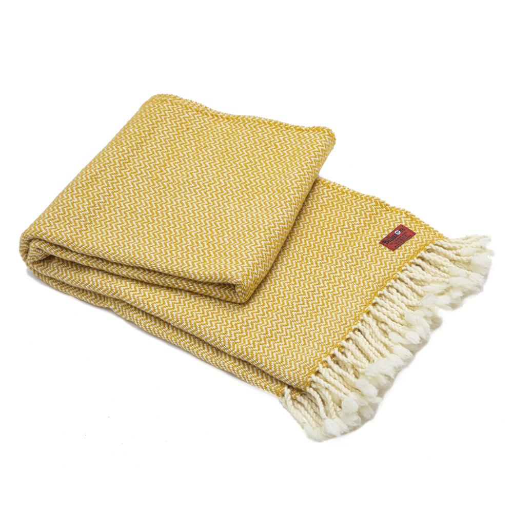 Vlněná deka Marina merino - žlutá