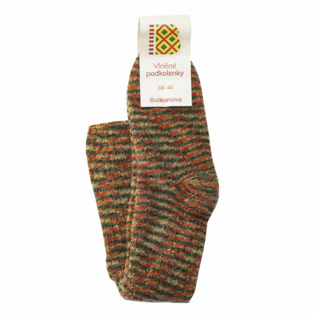 Wool brindle knee socks - warm colors