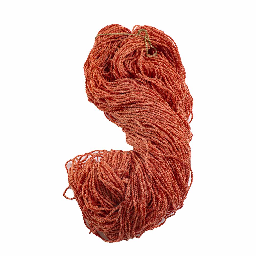 Vlněná příze cihlově oranžová 250 g