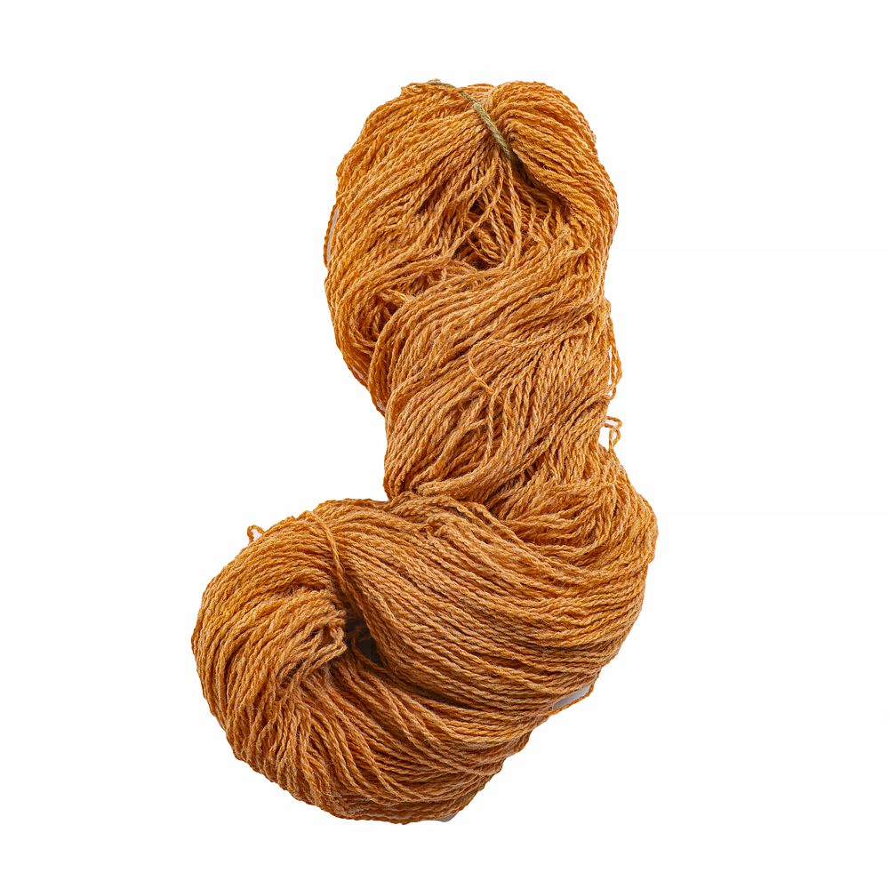Vlněná příze oranžová 250 g