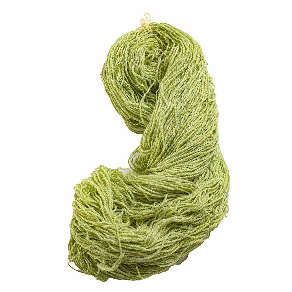 Vlněná příze hráškově zelená 250 g