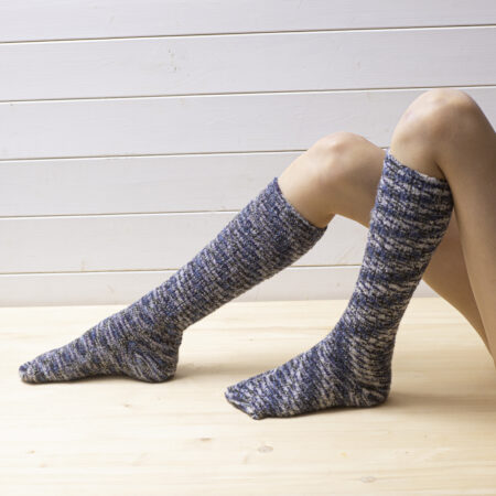 Wool brindle knee socks – cold colors