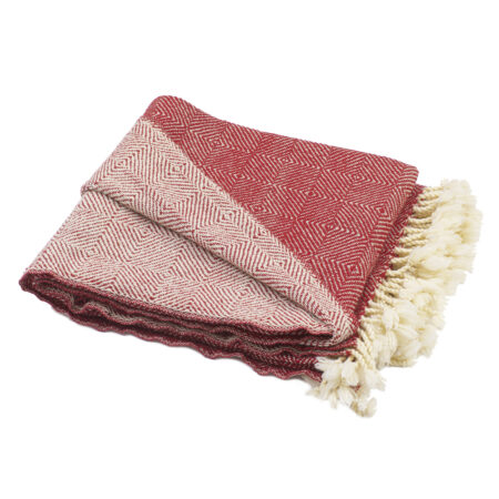 Wool blanket Kostadina merino V - red