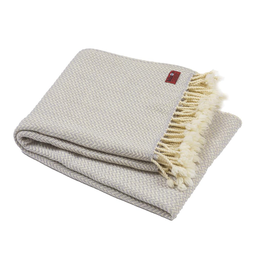 Vlnená deka Marina merino - svetlo šedá