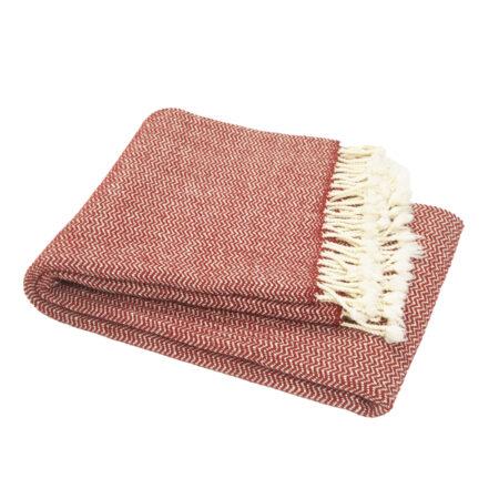 Vlněná deka Marina merino - bordó