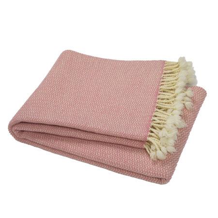 Vlněná deka Marina merino - růžová