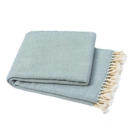 Vlněná deka Marina merino - olejově zelená