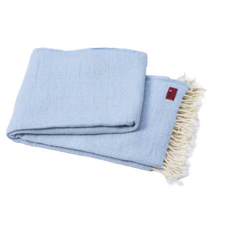 Vlněná deka Kostadina merino - světle modrá
